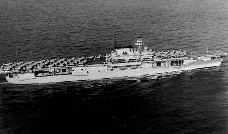 Description: Description: Enterprise CV-6 off Pearl Harbor, 1940. Aircraft from fore to aft are F3Fs, SBCs, BT-1s and TBD-1s.